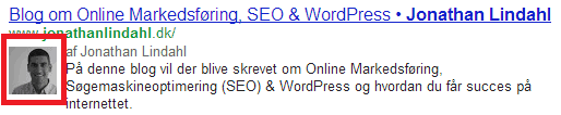 Authorship SERP