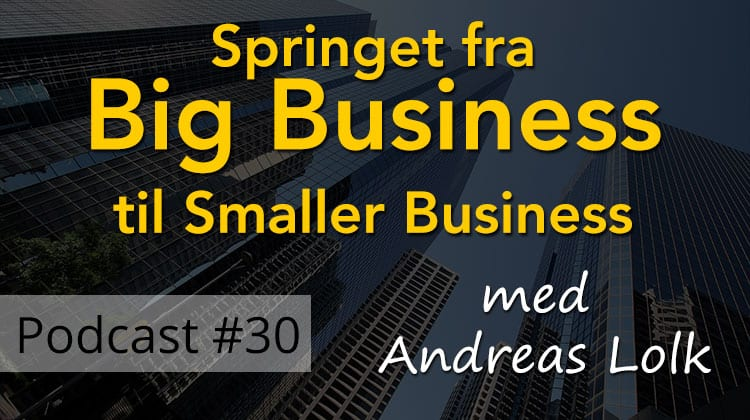 Springet fra big business til smaller business - Andreas Lolk