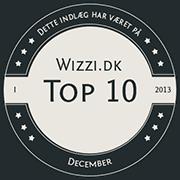 Wizzi.dk Top 10 December 2013