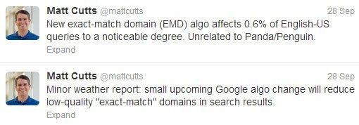 EMD algoritme update via Matt Cutts