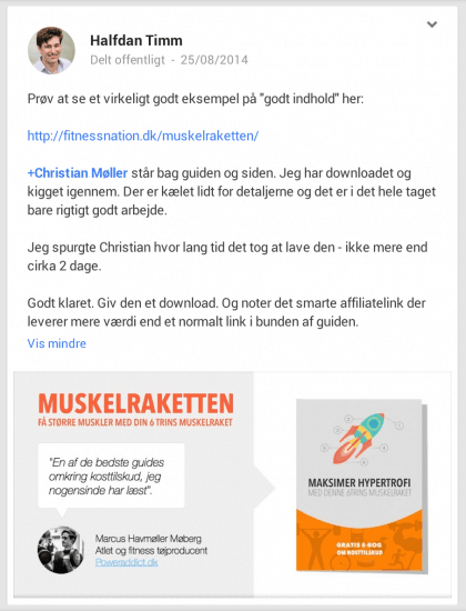 Halfdan Google+