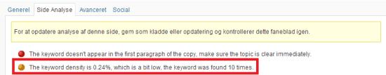 Se Keyword Density