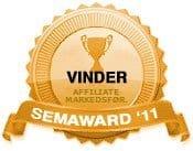 Vinder 2011 - Bedste Affiliate