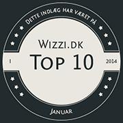 Wizzi.dk Top 10 Januar 2014