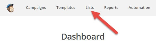 Find lists i MailChimp