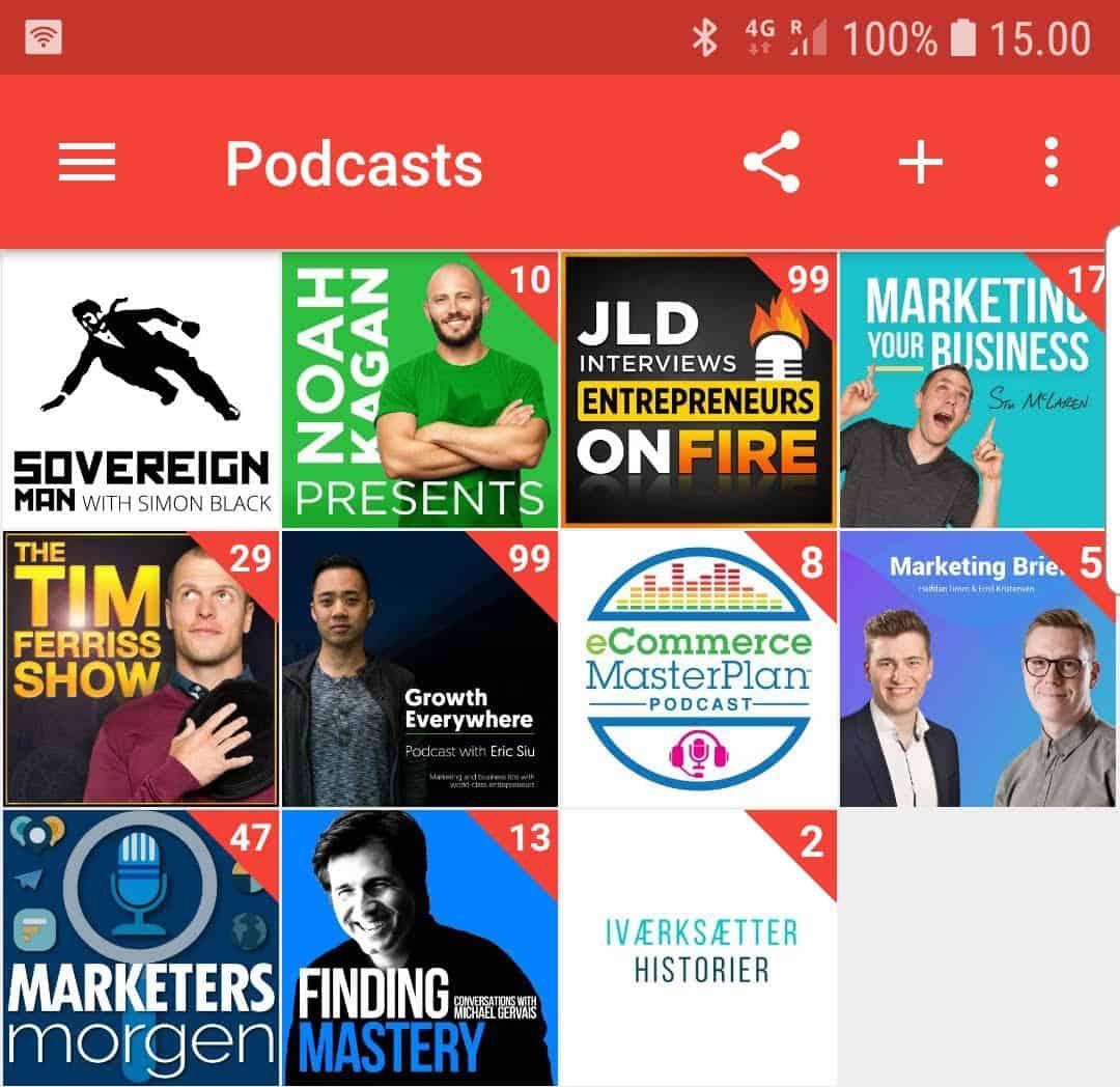 gode podcasts om online marketing