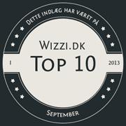 Wizzi.dk Top 10 September 2013