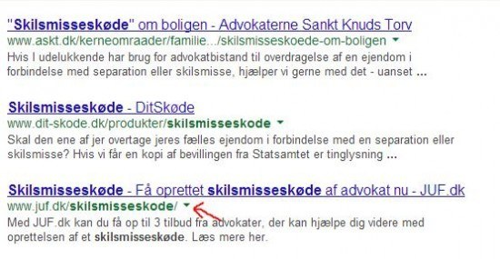 skilsmisseskøde rankings