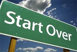 Hvordan starter man forfra?